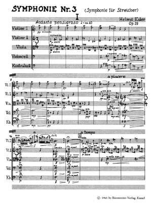 Eder, H: Symphony No.3