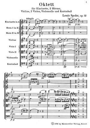 Spohr, L: Octet in E, Op.32