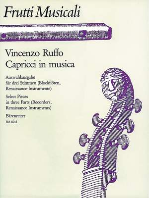 Ruffo, V: Capricci in musica. Selected Pieces in three Parts Product Image