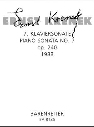 Krenek, E: Piano Sonata No.7, Op.240 (1988)