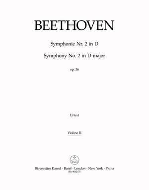 Beethoven, L van: Symphony No.2 in D, Op.36 (Urtext) (ed. Del Mar)