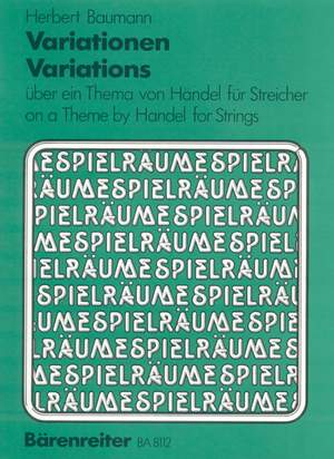 Baumann, H: Variations on a Theme by Handel Product Image
