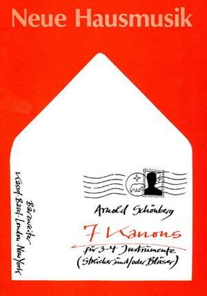 Schoenberg, A: Canons (7)