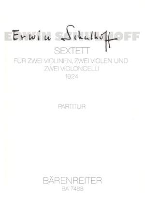 Schulhoff, E: Sextet (1920-24) Product Image