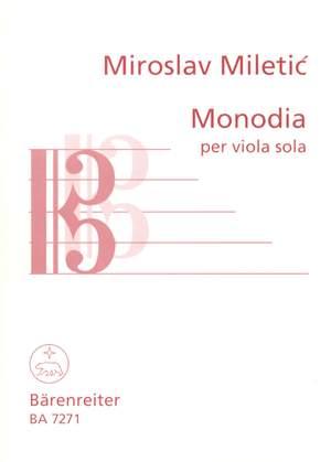 Miletic, M: Monodia (1990) Product Image