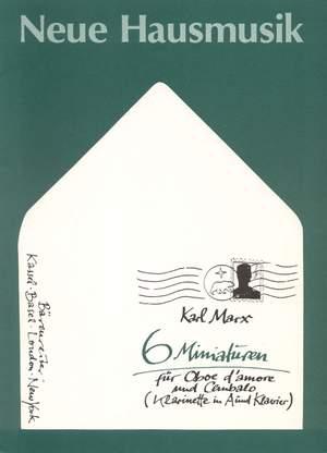 Marx, K: Six Miniatures, Op.62/ 2 (1974)