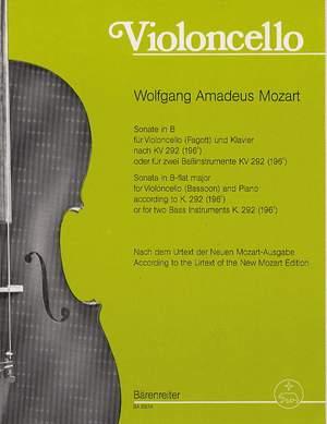 Mozart, WA: Sonata in B-flat (K.292) (Urtext)