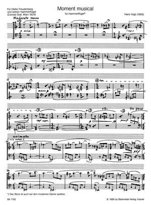 Vogt, H: Moment Musical for Grand Piano (1985)