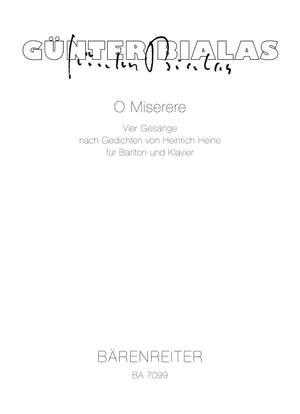 Bialas, G: O Miserere. 4 Songs