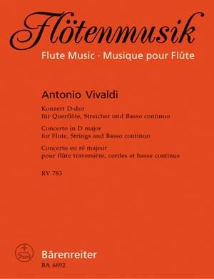 Vivaldi, A: Concerto for Flute in D (RV783) (first edition)