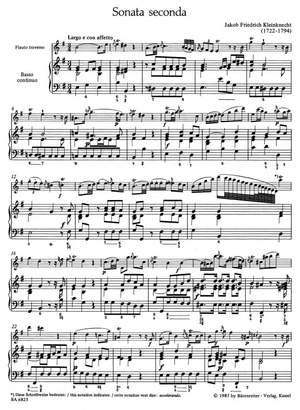 Kleinknecht, J: Sonatas (2), (G maj, B min)