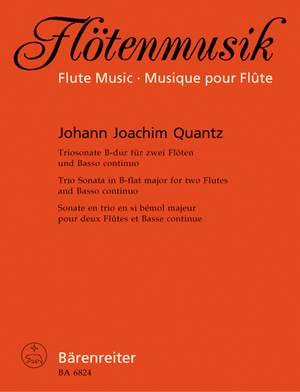 Quantz, J: Trio Sonata in B-flat. First edition