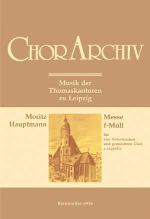 Hauptmann, M: Mass in F minor (Vokalmesse), Op.18 Product Image
