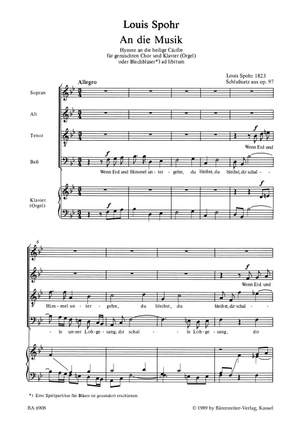 Spohr, L: An Die Musik (G). (Closing movement from the Hymn to St Cecilia Op.97)