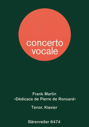 Martin, F: Dedicace de Pierre de Ronsard (F-G)