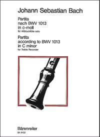 Bach, JS: Partita in C minor (originally in A minor) (BWV 1013) (Urtext)
