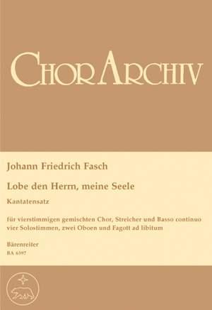 Fasch, J: Lobe den Herrn, meine Seele (G)