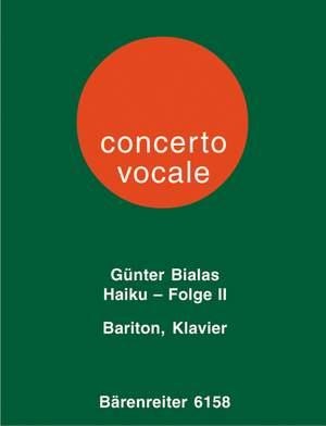 Bialas, G: Haiku Series No.2 (Nos. 1 - 12) (1972) (G)