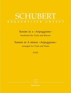 Schubert, F: Sonata for Arpeggione in A minor (D.821) arranged for Viola