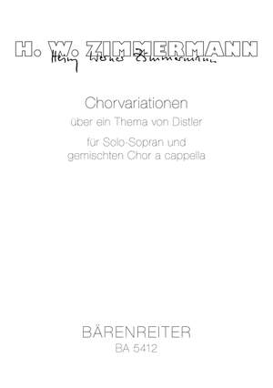 Zimmermann, H: Choral Variations on a Theme by Distler