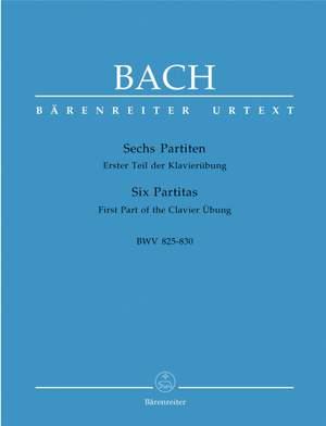 Bach, JS: Partitas (6), (Klavieruebung Part 1) (BWV 825-830) (Urtext) Product Image