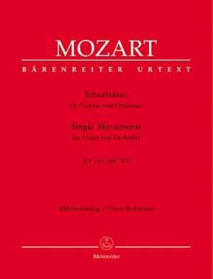 Mozart, WA: Single Movements for Violin and Orchestra (Urtext). (Adagio in E K.261; Rondo in B flat K.269; Rondo in C K.373)