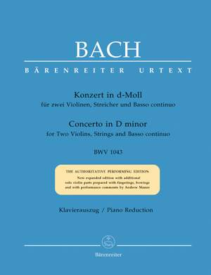Bach, JS: Concerto for Two Violins in D minor (BWV 1043) (Urtext)