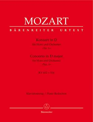 Mozart, WA: Concerto for Horn No.1 in D (K.412 + 514 (K.386b)) (Urtext)