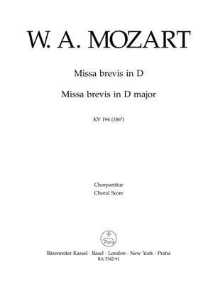 Mozart, WA: Missa brevis in D (K.194) (Urtext)