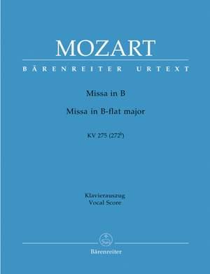 Mozart, WA: Missa brevis in B-flat (K.275) (Urtext)