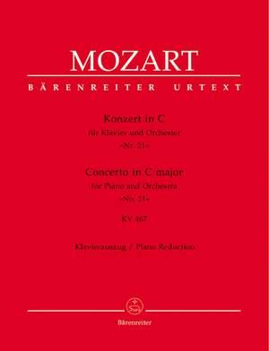 Mozart, WA: Concerto for Piano No.21 in C (K.467) (Urtext)