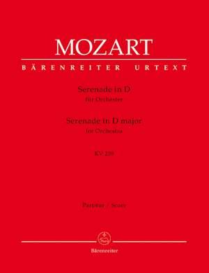 Mozart, WA: Serenade No. 6 in D (K.239) (Serenata notturna) (Urtext)