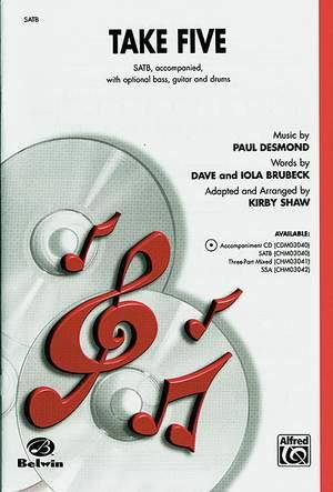 Paul Desmond: Take Five SATB