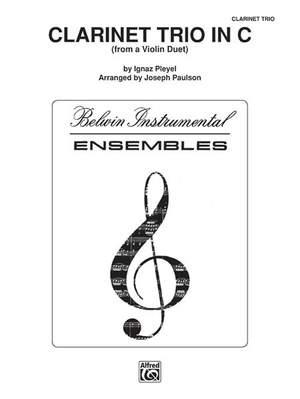 Ignaz Pleyel: Clarinet Trio in C