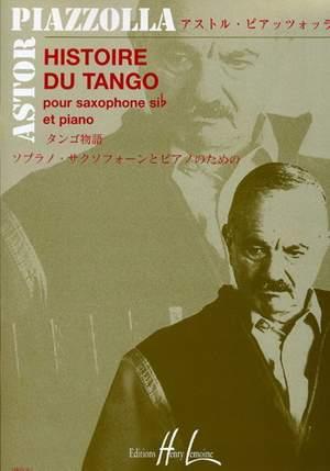 Piazolla, Astor: Histoire Du Tango (tensax and piano)