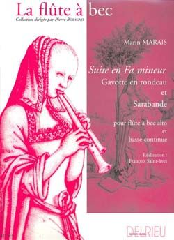 Marais, Marin: Suite in F minor (alto recorder/piano)