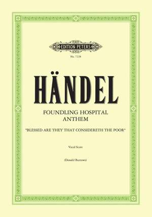 Handel, George Frideric: Foundling Hospital Anthem (Eng.) (Urtext Product Image