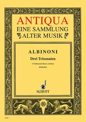 Albinoni, T: Three Triosonatas op. 1/10-12