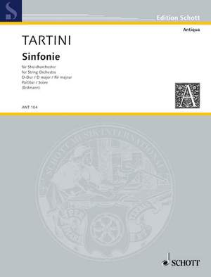 Tartini, G: Sinfonia D major Product Image