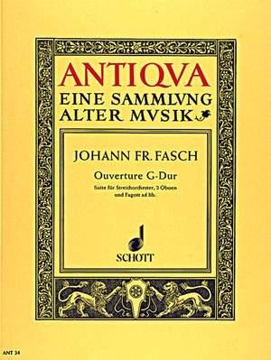 Fasch, J F: Overture G major