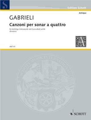 Gabrieli, G: Canzoni