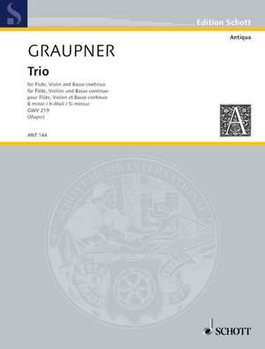 Graupner, C: Trio GWV 219