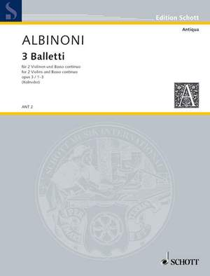 Albinoni, T: Three Balletti op. 3/1-3