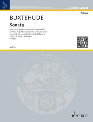 Buxtehude, D: Sonata D Major Product Image