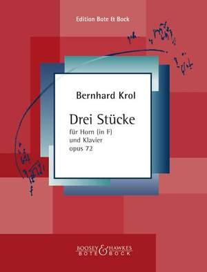 Krol, B: Three Pieces op. 72