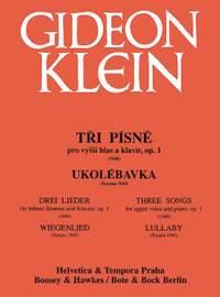 Klein, G: 3 Songs / Lullaby op. 1