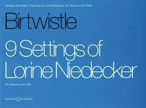 Birtwistle: 9 Settings of Lorine Niedecker