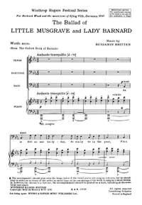 Britten, B: The Ballad of Little Musgrave and Lady Barnard