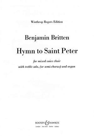 Britten, B: Hymn to Saint Peter op. 56a