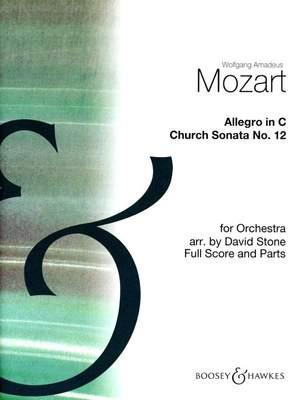 Mozart, W A: Allegro in C (Grade B)